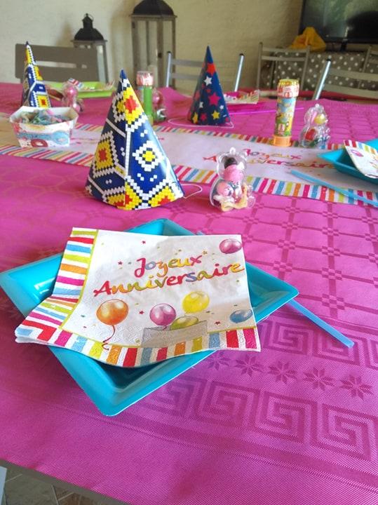 anniversaire table