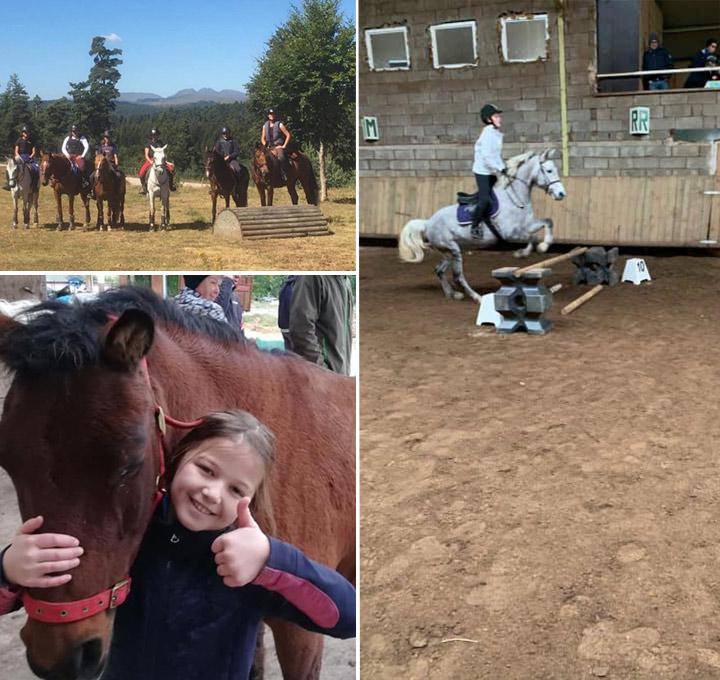 Les Stages d'équitation écurie Arlequin en Lozère